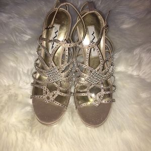 New Nina Rhinestone Evening Heels